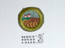 Soil & Water Conservation - Type E - Khaki Crimped Merit Badge (1947-1960)