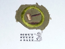 Public Speaking - Type E - Khaki Crimped Merit Badge (1947-1960)