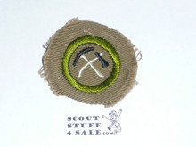 Pioneering - Type B - Wide Crimped Bdr Tan Merit Badge (1934-1935)