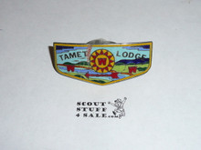 Order of the Arrow Lodge #225 Tamet Enameled Neckerchief slide, some cracking and chipping to enamel