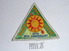 Order of the Arrow Lodge #225 Tamet x3 30th Anniversary Patch, used