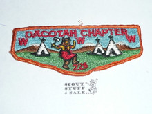 Order of the Arrow Lodge #225 Tamet Dacotah Chapter Flap Patch, used