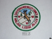 Order of the Arrow Lodge #228 Walika r3 Round Patch