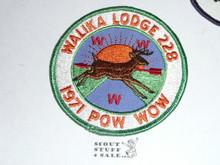 Order of the Arrow Lodge #228 Walika 1971 Pow Wow Patch