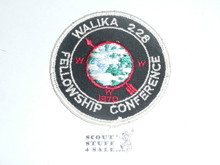 Order of the Arrow Lodge #228 Walika 1970 Fellowship Patch