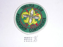 Order of the Arrow Lodge #228 Walika 1969 Fellowship Patch