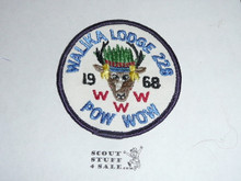 Order of the Arrow Lodge #228 Walika 1968 Pow Wow Patch