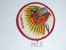 Order of the Arrow Lodge #228 Walika 1953 Pow Wow Patch, sewn