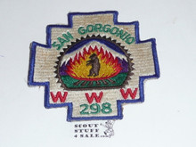 Order of the Arrow Lodge #298 San Gorgonio early Odd Shape Patch, glue on back