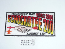 Order of the Arrow Lodge #200 Echockotee 2004 NOAC Flap Patch