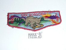 Order of the Arrow Lodge #298 San Gorgonio s1 Flap Patch, lt use