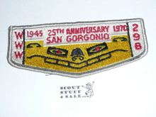 Order of the Arrow Lodge #298 San Gorgonio s7 Flap Patch