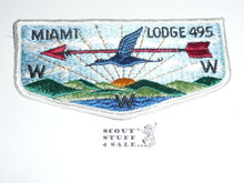 Order of the Arrow Lodge #495 Miami s2 Flap Patch