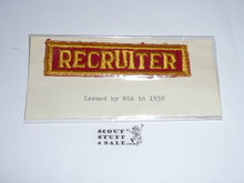 Recruiter Strip, 1930's