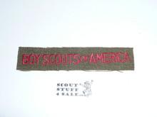 Program Strip - Boy Scouts of America, 1940's, Wool, Lt use #2