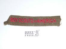 Program Strip - Boy Scouts of America, 1930's, Wool, Lt. Use #2