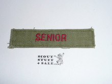 Program Strip - Senior, used