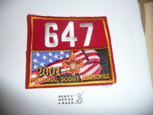 2001 National Jamboree Troop 647 Unit Number, Western Los Angeles County Council Troop