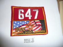 2001 National Jamboree Troop 647 Unit Number, Western Los Angeles County Council Troop