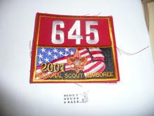 2001 National Jamboree Troop 645 Unit Number, Western Los Angeles County Council Troop