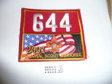 2001 National Jamboree Troop 644 Unit Number, Western Los Angeles County Council Troop