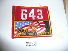 2001 National Jamboree Troop 643 Unit Number, Western Los Angeles County Council Troop