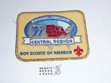 1997 National Jamboree Central Region Rectangular Patch, Gold Mylar