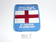 1993 National Jamboree Subcamp 20 Patch