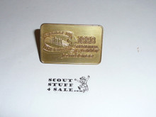 1993 National Jamboree Neckerchief Slide, gold color