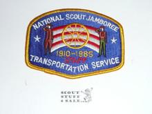 1985 National Jamboree Transportation Services STAFF Patch