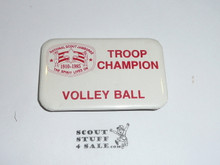 1985 National Jamboree Volley Ball Troop Champion Button
