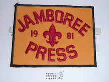 "1981 National Jamboree ""Jamboree Press"" Armband"