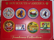 1973 National Jamboree Reproduction Patch Set on Board