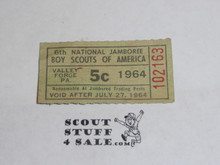 1964 National Jamboree Trading Post Ticket