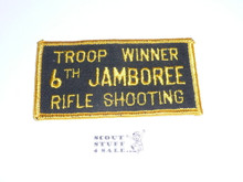 1964 National Jamboree Rifle Shooting Troop Winner Patch