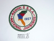 1957 National Jamboree Region 6 Patch