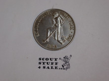 1950 National Jamboree Coin / Token, Pewter Color, glue on back
