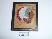 1937 National Jamboree Troop Trading item, Wood carved Indian from New Jersey