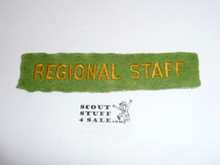 1937 National Jamboree REGIONAL STAFF Strip, Used