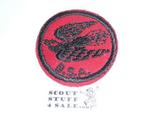 Whippoorwill Patrol Medallion, Red Twill with red rubber backing, 1955-1971