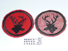 Stag Patrol Medallion, Felt No BSA & Gauze Back, 1927-1933