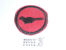 Seal (early, possible prototype) Patrol Medallion, Felt No BSA & Gauze Back, 1927-1933