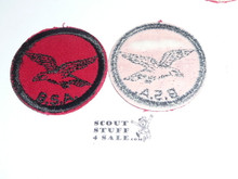 Seagull Patrol Medallion, Red Twill with gum back, 1955-1971