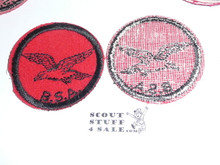 Seagull Patrol Medallion, Felt w/BSA black/White ring back, 1940-1955