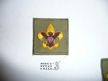 Tenderfoot Rank Patch - 1965-1971 - Fine Twill Type 7B, lite use