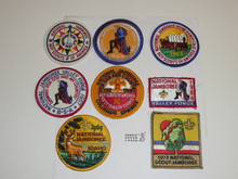 1973 National Jamboree Reproduction Patch Set