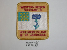 1997 National Jamboree Western Region Subcamp 8 Patch