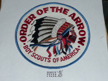 Order of the Arrow Multi color Indian Head Logo Jacket Patch, plastic backed