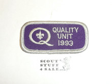 Quality Unit Patch, 1993
