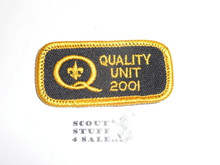 Quality Unit Patch, 2001